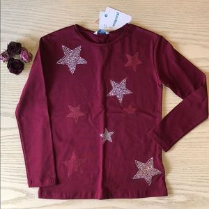 Mayoral Bordeaux Stars Long Sleeve T-Shirt